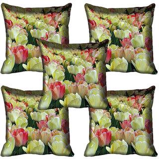 meSleep Flower Digital printed Cushion Cover (12x12) - 12CD-65-389-05