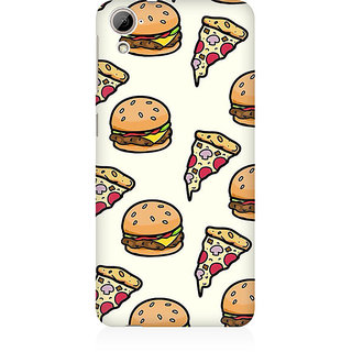 RAYITE Pizza Fast Food Premium Printed Mobile Back Case Cover For HTC Desire 826
