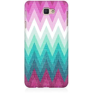 RAYITE Colourful Chevron Premium Printed Mobile Back Case Cover For Samsung J7 Prime