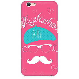 RAYITE Mustaches Are Cool Premium Printed Mobile Back Case Cover For Oppo A59