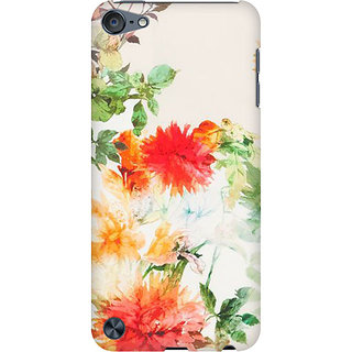 RAYITE Watercolor Flower Preum Printed Mobile Back Case Cover For  IPod Touch 6