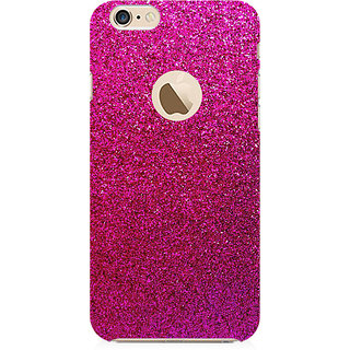 RAYITE Pink Glitter Print Abstract Preum Printed Mobile Back Case Cover For   6-6s With  Hole