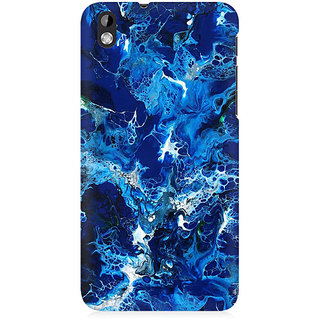 RAYITE Blue Watercolor Premium Printed Mobile Back Case Cover For HTC Desire 816