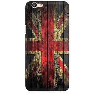 RAYITE UK Flag On Wood Premium Printed Mobile Back Case Cover For Oppo A59