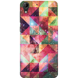 RAYITE Geometric Galaxy Art Premium Printed Mobile Back Case Cover For HTC Desire 728