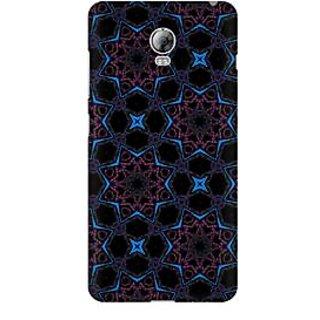 RAYITE Black Stars Premium Printed Mobile Back Case Cover For Lenovo Vibe P1