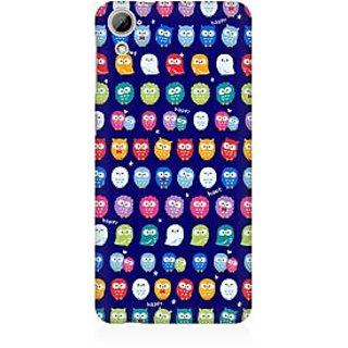 RAYITE Tiny Owl Pattern Premium Printed Mobile Back Case Cover For HTC Desire 826