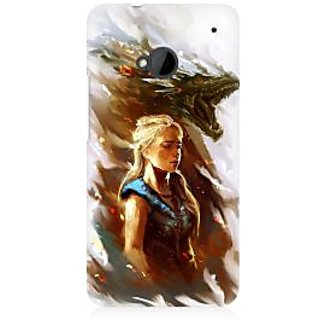 RAYITE Mother Of Dragons Premium Printed Mobile Back Case Cover For HTC One M7