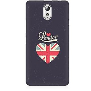 RAYITE London Love Premium Printed Mobile Back Case Cover For Lenovo Vibe P1M