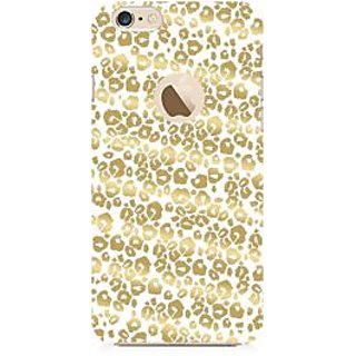 RAYITE Golden Cheetah Pattern Premium Printed Mobile Back Case Cover For Apple IPhone 6-6s With Apple Hole