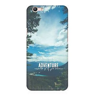 RAYITE Adventure Begins Premium Printed Mobile Back Case Cover For Oppo A59