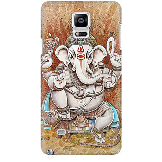 RAYITE Ganesha Premium Printed Mobile Back Case Cover For Samsung Note 4