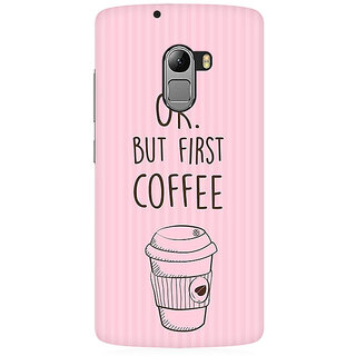 RAYITE Coffee First Premium Printed Mobile Back Case Cover For Lenovo A7010