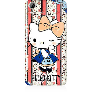 RAYITE Hello Kitty Premium Printed Mobile Back Case Cover For HTC Desire 826