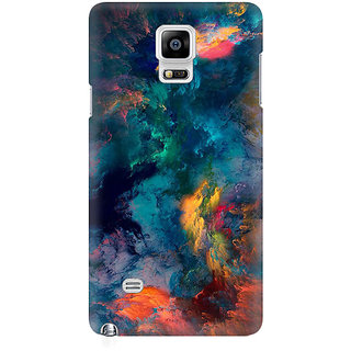 RAYITE Colourful Galaxy Cloud Premium Printed Mobile Back Case Cover For Samsung Note 4