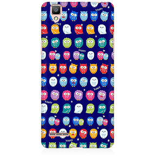RAYITE Tiny Owl Pattern Premium Printed Mobile Back Case Cover For Oppo F1