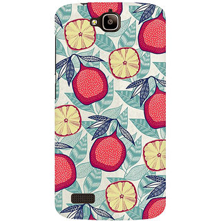 RAYITE Pineapple Pattern Premium Printed Mobile Back Case Cover For Huawei Honor Holly