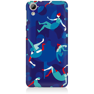 RAYITE Girls Falling Pattern Premium Printed Mobile Back Case Cover For HTC Desire 820
