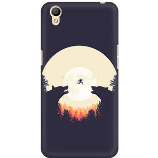 RAYITE Night Wolve Jump Premium Printed Mobile Back Case Cover For Oppo A37