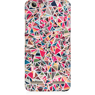 RAYITE Broken Triangles Premium Printed Mobile Back Case Cover For Lenovo K5 Plus