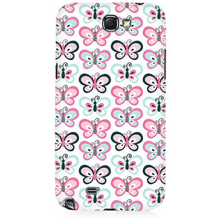 RAYITE Butterflies Pattern Premium Printed Mobile Back Case Cover For Samsung Note 2