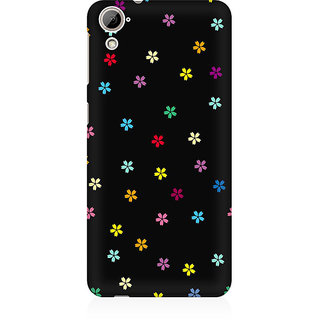 RAYITE Little Colourful Flower Premium Printed Mobile Back Case Cover For HTC Desire 826