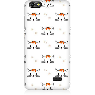 RAYITE Kitty Pattern Premium Printed Mobile Back Case Cover For Huawei Honor 4C