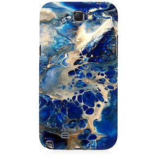 RAYITE Blue Sea Marble Premium Printed Mobile Back Case Cover For Samsung Note 2