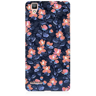 RAYITE Glowing Floral Premium Printed Mobile Back Case Cover For Oppo F1