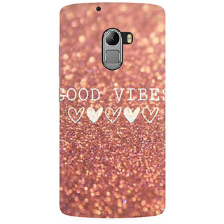 RAYITE Good Vibes Glitter Print Premium Printed Mobile Back Case Cover For Lenovo K4 Note