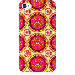 RAYITE Mandala Pattern Preum Printed Mobile Back Case Cover For   4/4s