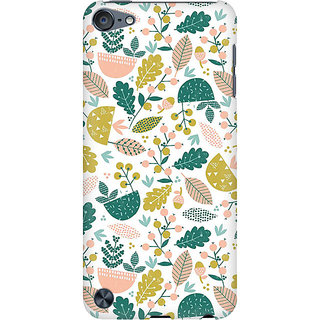 RAYITE Autumn Leaf Pattern Preum Printed Mobile Back Case Cover For  IPod Touch 6