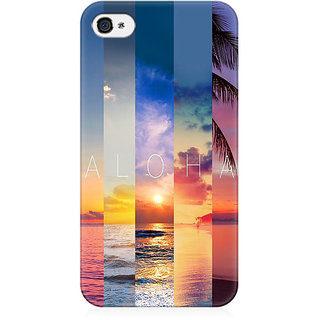 RAYITE Aloha Preum Printed Mobile Back Case Cover For   4/4s