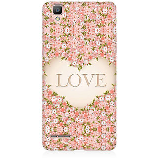 RAYITE Love Floral Premium Printed Mobile Back Case Cover For Oppo F1 Plus