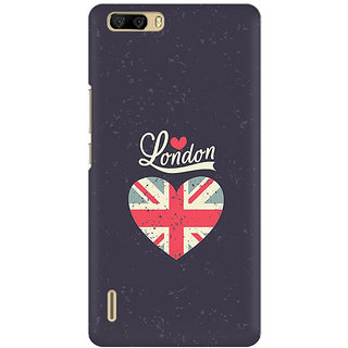 RAYITE London Love Premium Printed Mobile Back Case Cover For Huawei Honor 6 Plus