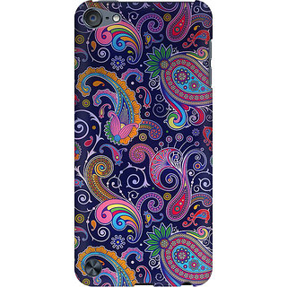 RAYITE Blue Embroidery Preum Printed Mobile Back Case Cover For  IPod Touch 6
