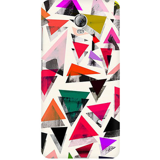 RAYITE Watercolor Triangle Pattern Premium Printed Mobile Back Case Cover For Lenovo Vibe P1