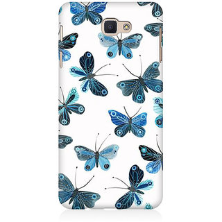 RAYITE Blue Butterfly Premium Printed Mobile Back Case Cover For Samsung J7 Prime