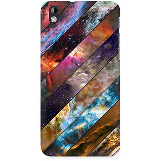 RAYITE Galaxy Wood Pattern Premium Printed Mobile Back Case Cover For HTC Desire 816