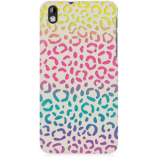 RAYITE Colourful Bubble Premium Printed Mobile Back Case Cover For HTC Desire 816