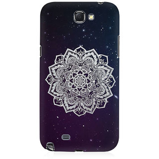 RAYITE Mandala Stars Premium Printed Mobile Back Case Cover For Samsung Note 2