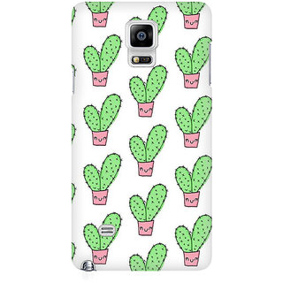 RAYITE Cactus Pattern Premium Printed Mobile Back Case Cover For Samsung Note 4