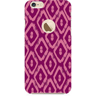 RAYITE Purple Geometric Pattern Preum Printed Mobile Back Case Cover For   6-6s With  Hole
