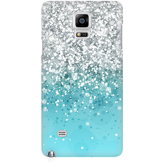 RAYITE Glitter Print Pattern Premium Printed Mobile Back Case Cover For Samsung Note 4
