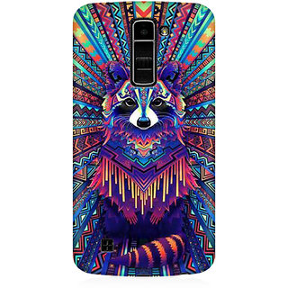 RAYITE Holy Geometrci Dog Premium Printed Mobile Back Case Cover For LG K7