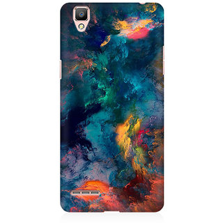 RAYITE Colourful Galaxy Cloud Premium Printed Mobile Back Case Cover For Oppo F1 Plus