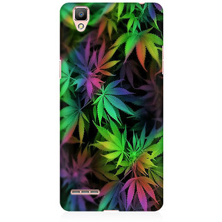 RAYITE Weed Leaf Premium Printed Mobile Back Case Cover For Oppo R9