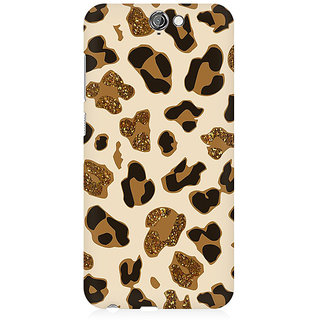 RAYITE Glitter Print Cheetah Pattern Premium Printed Mobile Back Case Cover For HTC One A9