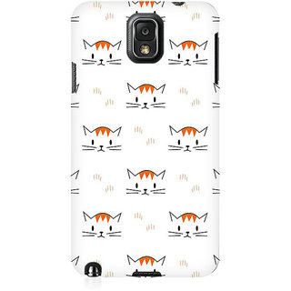 RAYITE Kitty Pattern Premium Printed Mobile Back Case Cover For Samsung Note 3