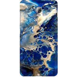 RAYITE Blue Sea Marble Premium Printed Mobile Back Case Cover For Lenovo Vibe P1